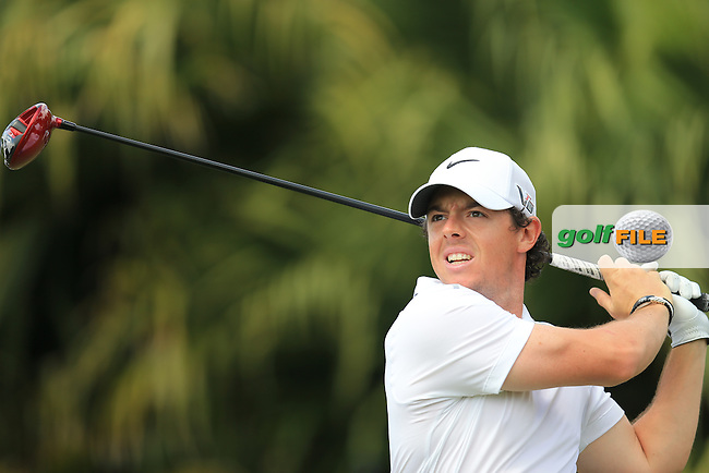 Rory McIlroy (NIR) on the 8th during day three at the WGC Cadillac championship at Doral Golf Resort & Spa,Doral, Florida,USA..Picture: Fran Caffrey / www.golffile.ie ..