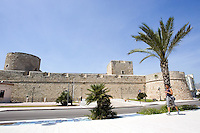 Veduta del Castello di Manfredonia.<br /> View of the Castle of Manfredonia.<br /> UPDATE IMAGES PRESS/Riccardo De Luca
