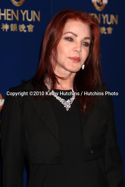 Priscilla Presley.arrives at the SHEN YUN PERFORMING ARTS SHOW.Dorothy Chandler Pavilion.Los Angeles, CA.July 8, 2010.©2010 Kathy Hutchins / Hutchins Photo.....