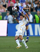 Chelsea FC DEF & Captain John Terry (26) goes high over LA Galaxy FWD Alan Gordan (21) during an International Friendly match. Chelsea FC beat the LA Galaxy 1-0 at the Home Depot Center in Carson, California, Saturday, July 21, 2007.