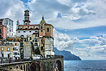 Small Village of Atrani on the outskirts of Amalfi Italy.