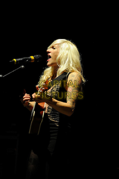 LONDON, ENGLAND - April 3: Sarah Blackwood of Walk Off The Earth performs in concert at the o2 Shepherd's Bush Empire on April 3, 2014 in London, England<br /> CAP/MAR<br /> &copy; Martin Harris/Capital Pictures