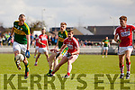 Kieran Donaghy Kerry in action against Niall Coakley Cork in the National Football league in Austin Stack Park, Tralee on Sunday.