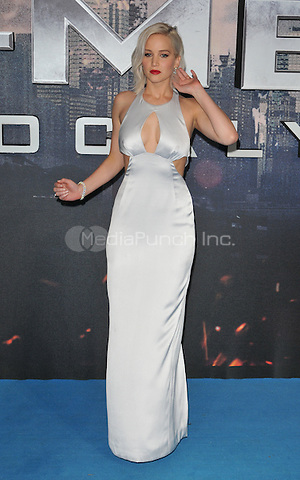 Jennifer Lawrence at the &quot;X-Men : Apocalypse&quot; global fan screening, BFI Imax, Charlie Chaplin Walk, London, England, UK, on Monday 09 May 2016.<br /> CAP/CAN<br /> &copy;CAN/Capital Pictures /MediaPunch ***NORTH AND SOUTH AMERICA ONLY***
