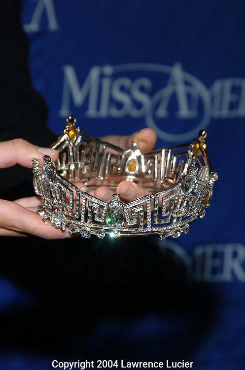 Miss America 2005 Deidre Downs' crown of Austrian crystals