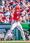 23 August 2015: Washington Nationals infielder Danny Espinosa in action against the Milwaukee Brewers at Nationals Park in Washington, DC. The Nationals defeated the Brewers 9-5 in the third game of their 3-game weekend series. Mandatory Credit: Ed Wolfstein Photo *** RAW (NEF) Image File Available ***