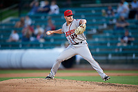 Richmond Flying Squirrels relief pitcher Caleb Simpson (29) delivers a pitch during a game against the Altoona Curve on May 15, 2018 at Peoples Natural Gas Field in Altoona, Pennsylvania.  Altoona defeated Richmond 5-1.  (Mike Janes/Four Seam Images)