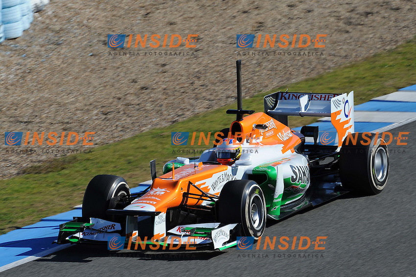 PAUL DI RESTA (GBR) -SAHARA FORCE INDIA VJM05.Formula 1: Test Jerez 07/02/2012.Foto Insidefoto / Gilles Levent / PanoramiC.ITALY ONLY