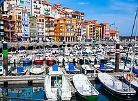 town and harbor, Bermeo, Busturialdea, Biscay, Basque Country, Spain, Bay of Biscay, Atlantic Ocean