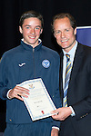 St Johnstone FC Youth Academy Presentation Night at Perth Concert Hall..21.04.14<br /> Alec Cleland presents to Ross Sinclair<br /> Picture by Graeme Hart.<br /> Copyright Perthshire Picture Agency<br /> Tel: 01738 623350  Mobile: 07990 594431