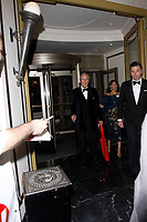LONDON, ENGLAND - SEPTEMBER 10 :  Nicholas Parsons leaves the TV Choice Awards 2018, at The Dorchester hotel, on September 10, 2018 in London, England.<br /> CAP/AH<br /> &copy;AH/Capital Pictures