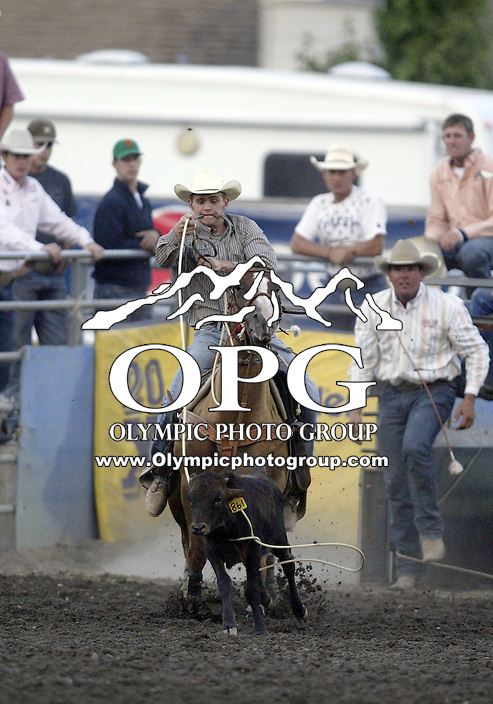 27 Aug 2009:   Matt Charles Kenney was not able to score a time in the Tie Down Roping competition at the Kitsap County Thunderbird PRCA Pro Rodeo in Bremerton, Washington.