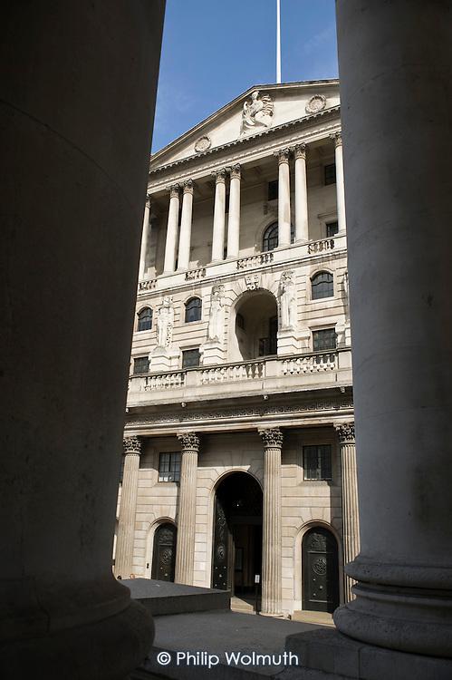 The Bank of England, Threadneedle Street, City of London.