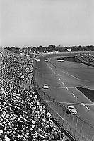 DAYTONA BEACH, FL - FEBRUARY 16: Geoff Bodine drives the Rick Hendrick Chevrolet en route to victory in the Daytona 500 NASCAR Winston Cup race at the Daytona International Speedway in Daytona Beach, Florida, on February 16, 1986.