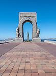 Monument aux Morts d'Orient War Memorial at Vallon des Auffes and Bay of Marseille, France