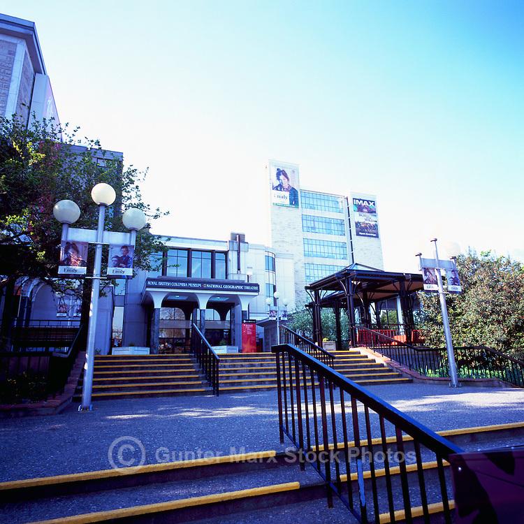 Victoria, BC, Vancouver Island, British Columbia, Canada - Royal BC Museum - Front Entrance Plaza