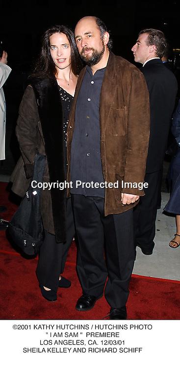 "©2001 KATHY HUTCHINS / HUTCHINS PHOTO."" I AM SAM ""  PREMIERE.LOS ANGELES, CA. 12/03/01.SHEILA KELLEY AND RICHARD SCHIFF"
