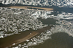 In late June, the frigid waters of the Beaufort Sea begin to release their icy grip as long days warm the relatively shallow waters along the coast.