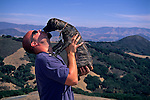 Getting some puppy love in the hills above San Luis Obispo, San Luis Obispo County, CALIFORNIA