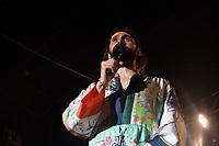 PORTO ALEGRE, RS, 29.09.2018 - SHOW-RS - o cantor Jared Leto durante show com a sua banda Thirty Seconds to Mars na noite deste sabado 29 no Pepsi on Stage na cidade de Porto Alegre neste sabado, 30. (Foto: Naian Meneghetti/Brazil Photo Press)