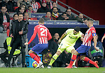 (L to R) Club Atletico de Madrid's coach Diego Pablo Cholo Simeone, Lucas Hernandez, Koke Resurreccion and Futbol Club Barcelona's Luis Suarez  during La Liga match. November 24,2018. (ALTERPHOTOS/Alconada)