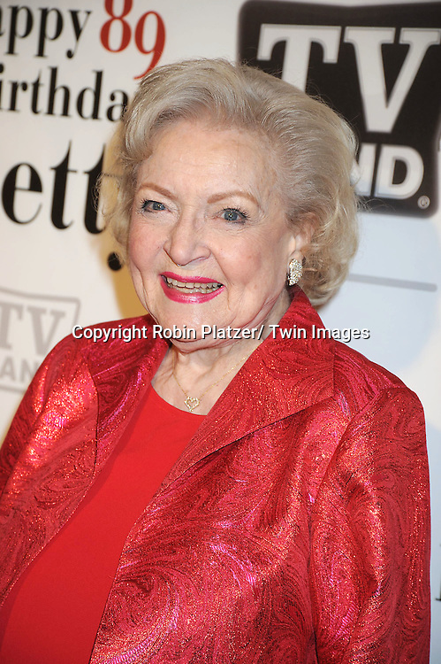 """Betty White attending Betty White's 89th Birthday party given by TV Land and the cast of """"Hot in Cleveland"""" on January 18, 2011 at .Le Cirque in New York City."""