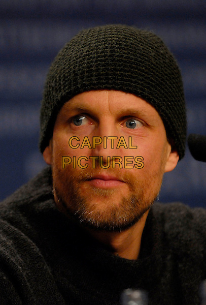 """WOODY HARRELSON.Photocall for """"A Prairie Home Companion"""" at the 56th Berlin (Berlinale) Film Festival, Berlin, Germany..February 12th, 2006.Ref: KRA.headshot portrait black hat beanie beard facial hair.www.capitalpictures.com.sales@capitalpictures.com.©Capital Pictures"""