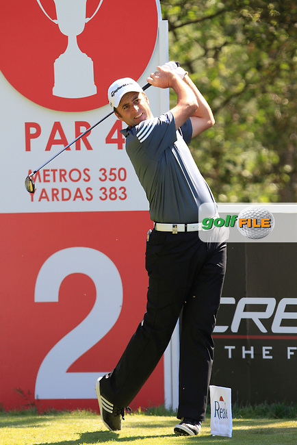 Richard Bland (ENG) on the 2nd during Thursday's Round 1 of The Open De Espana at The PGA Catalunya Resort. 15th May 2014.<br /> Picture:  Thos Caffrey / www.golffile.ie