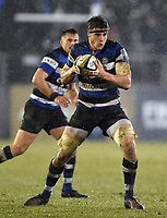 Josh Bayliss of Bath Rugby in possession. Anglo-Welsh Cup Semi Final, between Bath Rugby and Northampton Saints on March 9, 2018 at the Recreation Ground in Bath, England. Photo by: Patrick Khachfe / Onside Images