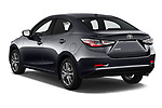 Car pictures of rear three quarter view of a 2018 Toyota Yaris LE 4 Door Sedan angular rear