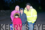 Lixnaw Dawn Mass; Attending the dawn Mass in Lixnaw on Easter Sunday morning were Maria Conway, Michaela, Jack & John Goggin.