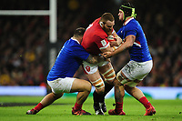 Jake Ball of Wales in action during the Guinness Six Nations Championship Round 3 match between Wales and France at the Principality Stadium in Cardiff, Wales, UK. Saturday 22 February 2020