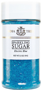 10218 Electric Blue Sparkling Sugar, Small Jar 3.5 oz, India Tree Storefront