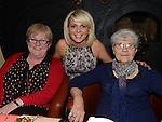 Cheryl O'Brien celebrating her 30th birthday in the Mariner with aunt Rose O'Brien and grandmother Kathleen O'Brien. Photo:Colin Bell/pressphotos.ie