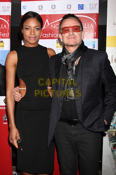 LOS ANGELES, CA - FEBRUARY 23: Naomie Harris, Bono at the LA Italia Opening Night, TCL Chinese 6 Theaters, Hollywood,  February 23, 2014. <br /> CAP/MPI/JO<br /> &copy;JO/MPI/Capital Pictures