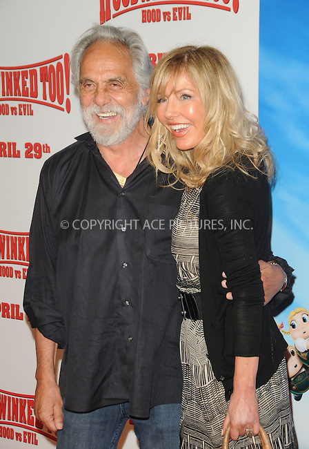 WWW.ACEPIXS.COM . . . . . ....April 16 2011, Los Angeles....Actors Tommy Chong and Shelby Chong arriving at the 'HOODWINKED TOO! HOOD vs EVIL' Premiere Hosted by Heidi Klum, Maurice Kanbar and Harvey Weinstein at the Pacific Theaters at The Grove on April 16, 2011 in Los Angeles, CA....Please byline: PETER WEST - ACEPIXS.COM....Ace Pictures, Inc:  ..(212) 243-8787 or (646) 679 0430..e-mail: picturedesk@acepixs.com..web: http://www.acepixs.com