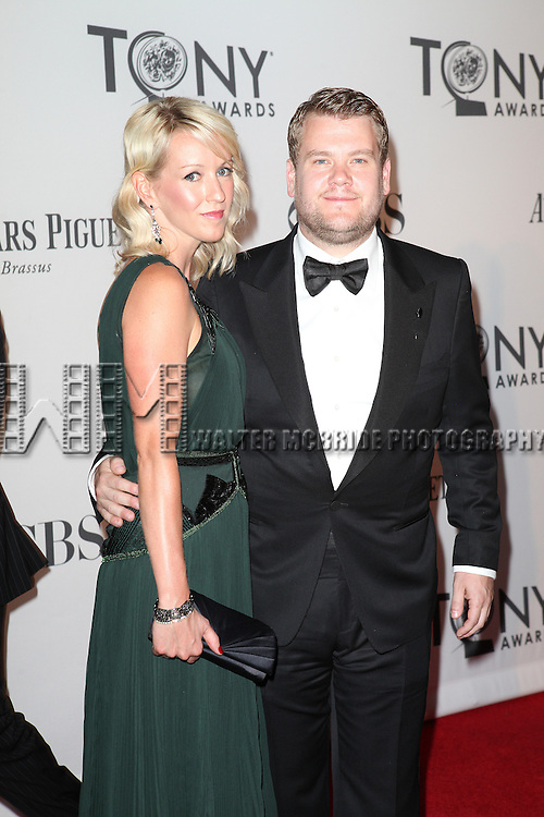 James Corden and Guest pictured at the 66th Annual Tony Awards held at The Beacon Theatre in New York City , New York on June 10, 2012. © Walter McBride / WM Photography