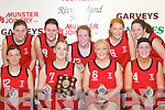 WON: St Mary's team that won the Division 2 ladies final against Kenmare Kestrels at the St Mary's basketball blitz in Castleisland Community Centre on Sunday were front l-r: Marguerite Walmsley, Siobha?n O'Leary, Kerry Lynch and Joanne Walmsley. Back l-r: Margaret O'Donoghue, Mary Nolan, Noreen Kearney, Tina Glover and Caroline Kearney.   Copyright Kerry's Eye 2008