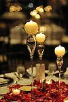 Wedding couple and decor.Waters Edge Restaurant.Long Island City, New York.