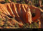Hoodoo and Erosion Amphitheater at Sunrise, Fairyland Canyon, Bryce Canyon National Park, Utah