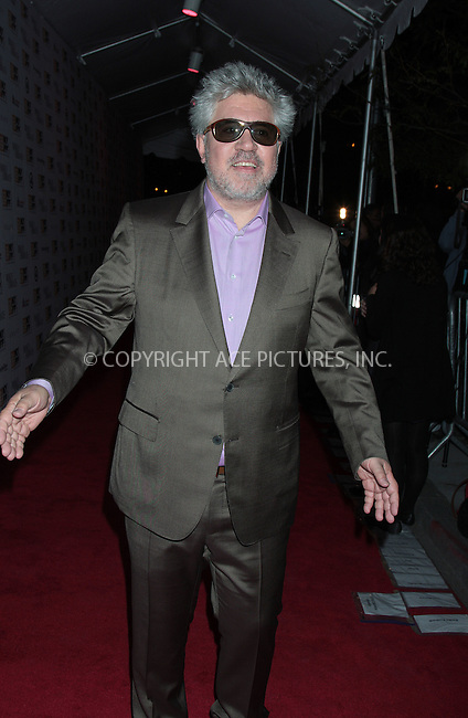 WWW.ACEPIXS.COM . . . . .  ....October 11 2009, New York City....Pedro Almodovar attends the premiere of ''Broken Embraces'' at Alice Tully Hall, Lincoln Center on October 11, 2009 in New York City.....Please byline: AJ Sokalner - ACEPIXS.COM.... *** ***..Ace Pictures, Inc:  ..(212) 243-8787 or (646) 769 0430..e-mail: picturedesk@acepixs.com..web: http://www.acepixs.com