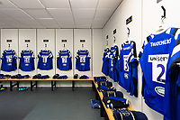 A general view in the away changing rooms at the Ricoh Arena. Heineken Champions Cup match, between Wasps and Bath Rugby on October 20, 2018 at the Ricoh Arena in Coventry, England. Photo by: Patrick Khachfe / Onside Images