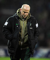 FUSSBALL   1. BUNDESLIGA   SAISON 2011/2012   23. SPIELTAG SV Werder Bremen - 1. FC Nuernberg                   25.02.2012 Trainer Thomas Schaaf (SV Werder Bremen) ist nach dem Abpfiff nach dem Abpfiff