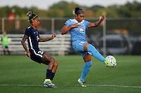 Piscataway, NJ - Saturday Aug. 27, 2016: Tasha Kai, Samantha Johnson during a regular season National Women's Soccer League (NWSL) match between Sky Blue FC and the Chicago Red Stars at Yurcak Field.