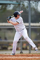 Western Connecticut Colonials designated hitter George Bielizna (24) at bat during the first game of a doubleheader against the Edgewood College Eagles on March 13, 2017 at the Lee County Player Development Complex in Fort Myers, Florida.  Edgewood defeated Western Connecticut 3-0.  (Mike Janes/Four Seam Images)