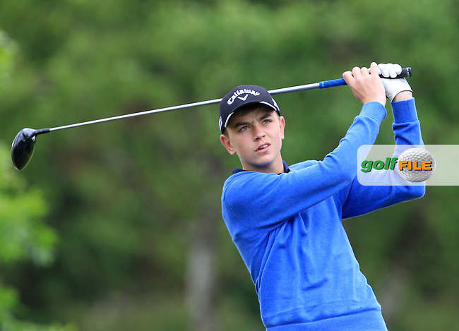 Sean Dowling (Beaverstown) on the 9th tee during Round 3 of the Irish Boys Amateur Open Championship at Tuam Golf Club on Thursday 25th June 2015.<br /> Picture:  Thos Caffrey / www.golffile.ie