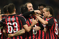 Suso of AC Milan celebrates with Gonzalo Higuain of AC Milan  after scoring a goal <br /> Milano 31-10-2018 Stadio San Siro, Football Calcio Serie A 2018/2019 AC Milan - Genoa <br /> Foto Image Sport / Insidefoto