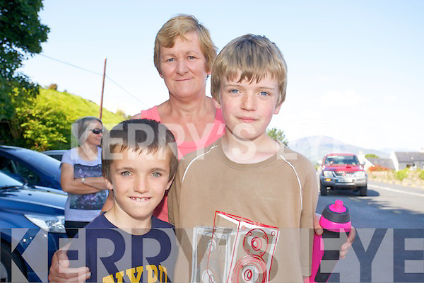 Lorcan O'Connor, Adam O'Connor and Catherine O'Connor enjoying the Camp The Annual 4 mile walk in aid of Cystic Fibrosis is on Bank Holiday Monday