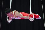 Fuya Maeno (JPN), <br /> AUGUST 20, 2018 - Artistic Gymnastics : Men's Individual All-Around Rings at JIEX Kemayoran Hall D during the 2018 Jakarta Palembang Asian Games in Jakarta, Indonesia. <br /> (Photo by MATSUO.K/AFLO SPORT)