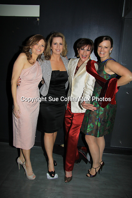 Anne Sayre, Martha Byrne, Colleen Zenk, Yvonne Perry ATWT - We Love Soaps and The Indie Series Network present the 4th Annual Indie Soap Awards - ISAs on February 19, 2013 from New World Stages, New York City, New York -  (Photo by Sue Coflin/Max Photos)